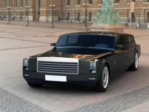 3D-макеты совершенно нового продукта от марки ЗИЛ, а именно лимузина для Дмитрия Медведева