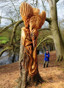 Интересные лесные скульптуры