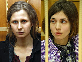 pussyriot Мария Алехина и Надежда Толоконникова