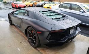 Lamborghini Aventador вспыхнул во время тест-драйва покупателя