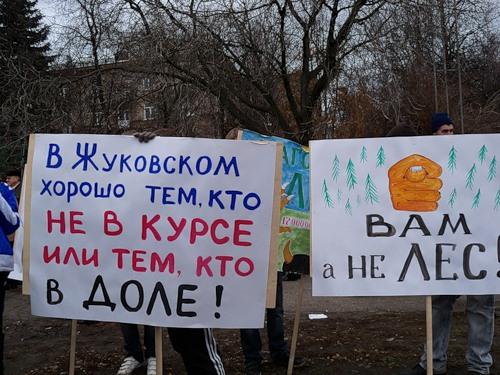 Столкновения защитников Цаговского леса с полицией