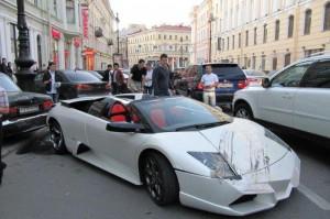 Авария с участием Lamborghini в Питере