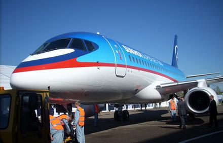 Российский самолет Sukhoi SuperJet-100 (SSJ100)