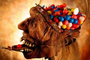 Очень странный автомат со сладостями
