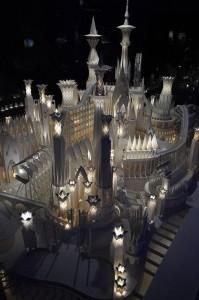 Красивый бумажный замок