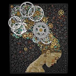 Мозаика из часовых механизмов