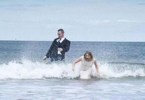 Случайность во время свадебной фотосессии