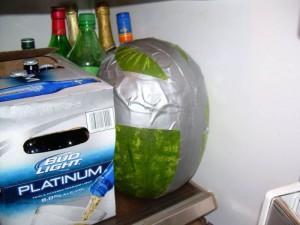 Ледяной арбуз с алкоголем