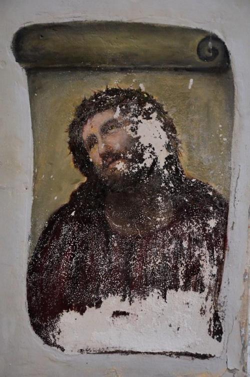 Церковная фреска Иисус