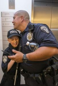 Мальчик всю свою жизнь мечтал стать полицейским