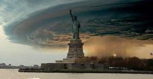 Статуя Свободы ураган сэнди