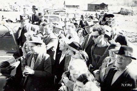 Открытие моста в 1941 году