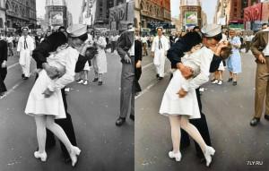 Известные и исторические чёрно-белые фотографии обрили современный цвет.