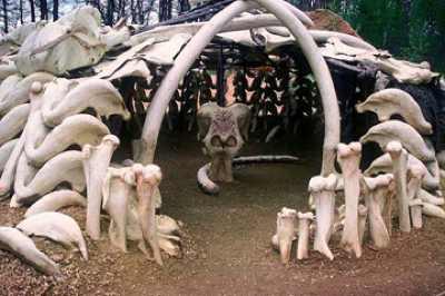 дом из костей мамонта