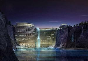 Удивительную подземную гостиницу строят в Сунцзян