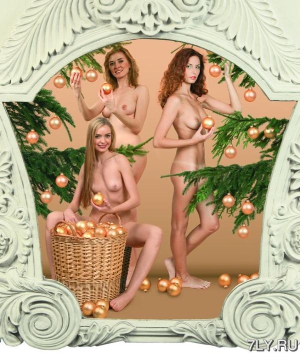 новогодние девушки