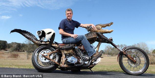 Необычный мотоцикл Джима Джаблона