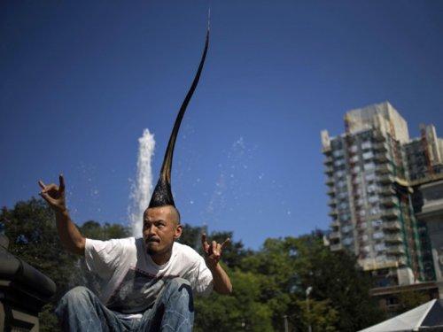 самый высокий ирокез из натуральных волос