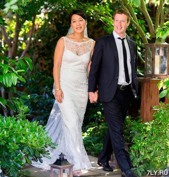 Марк Цукерберг (Mark Zuckerberg) и его молодая жена Присцилла Чан (Priscilla Chan)