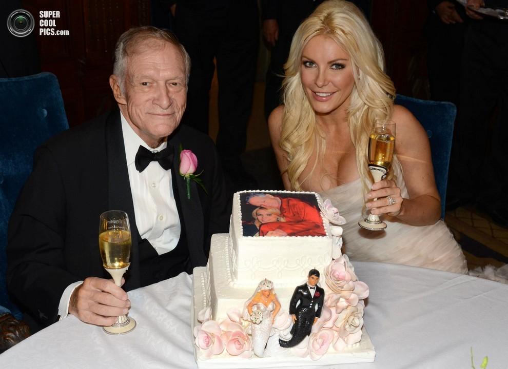 Свадьба 86-летнего Хью Хефнера и 26-летней Кристал Харрис