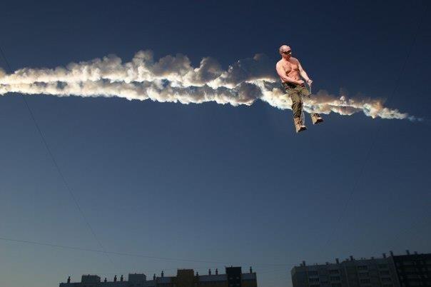 Как в Челябинске метеорит падал