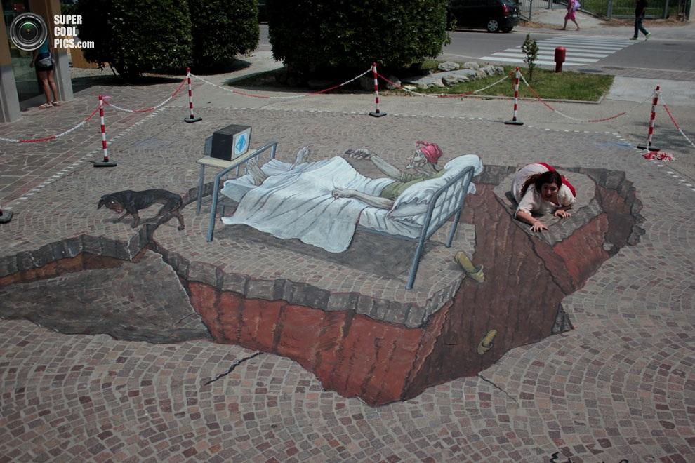 3D Street Art In Rome