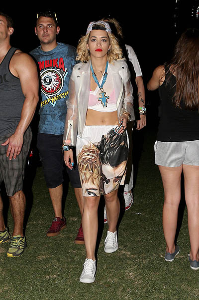 Rita Ora has some Night Time Fun at Coachella