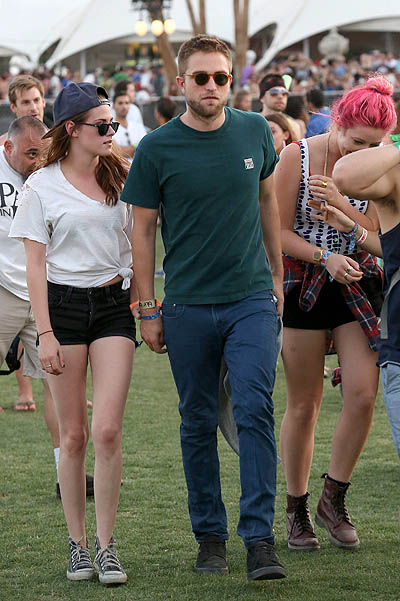 Robert Pattinson and Kristen Stewart continue their Love Fest on Day 2 of Coachella