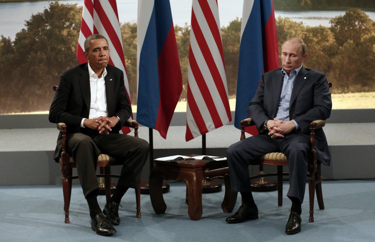 Putin Obama G8