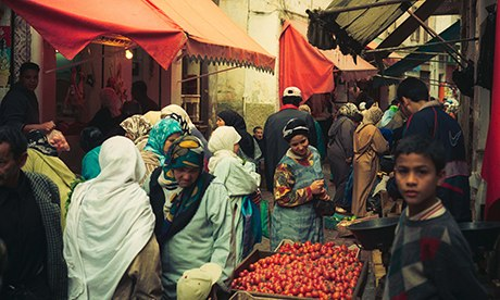 A vegetable market in Casablanca's Medina, by Antonio Olmos.