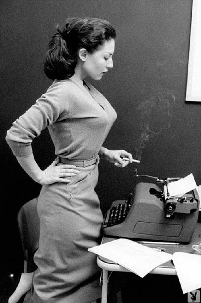 Alice Denham And Her Royal Hh Typewriter In (1957)