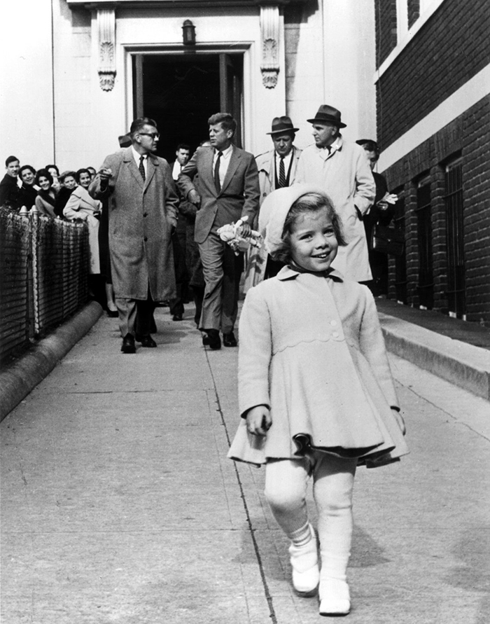 Caroline Kennedy In Front Of Her Father, While He Carries Her Doll (1963)