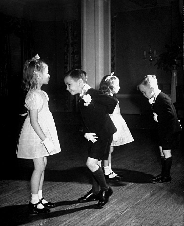 Children In Ballroom Dancing Class (1945)