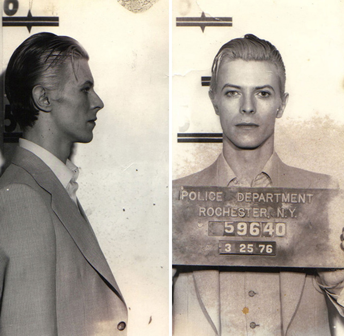 David Bowie Was Arrested In A Hotel Suite After Performance In Rochester (1976)