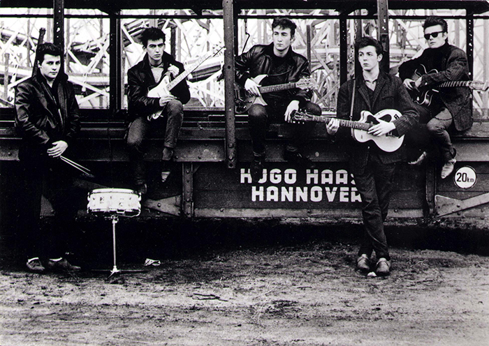 First Actual Photo Session Of The Beatles In Hamburg (1960)