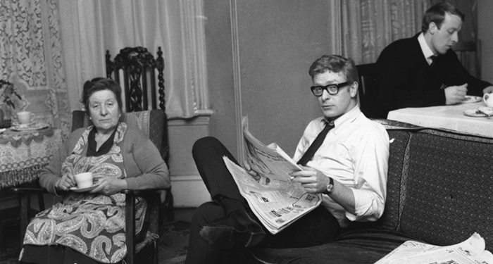 Michael Caine At Home With His Mother And Brother (1964)