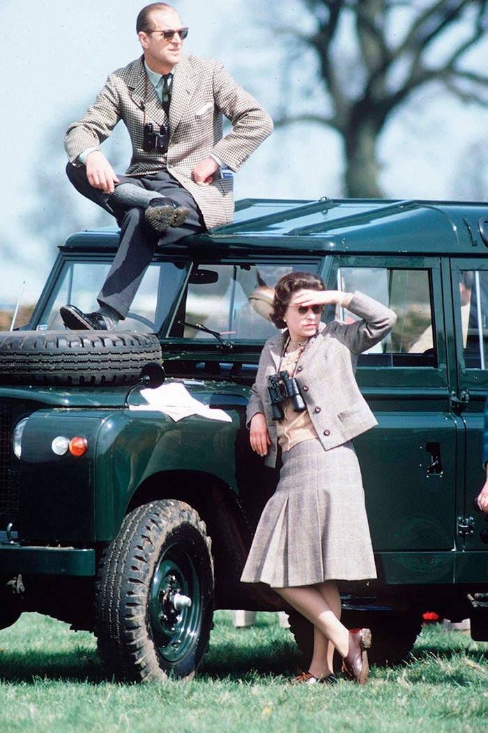 Queen Elizabeth II And The Duke Of Edinburgh Watching Competitors At The Badminton Horse Trials (1968)