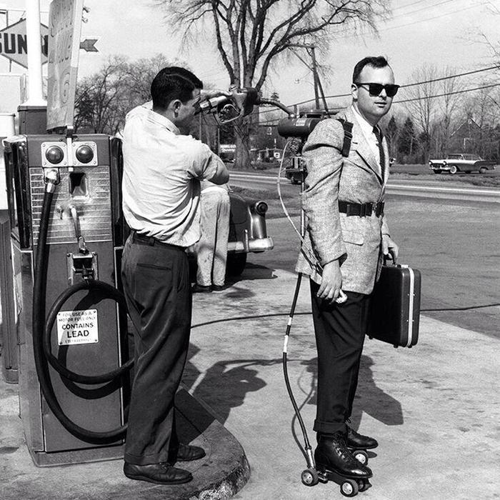 Salesman Roller Skates Refuelled (1961)