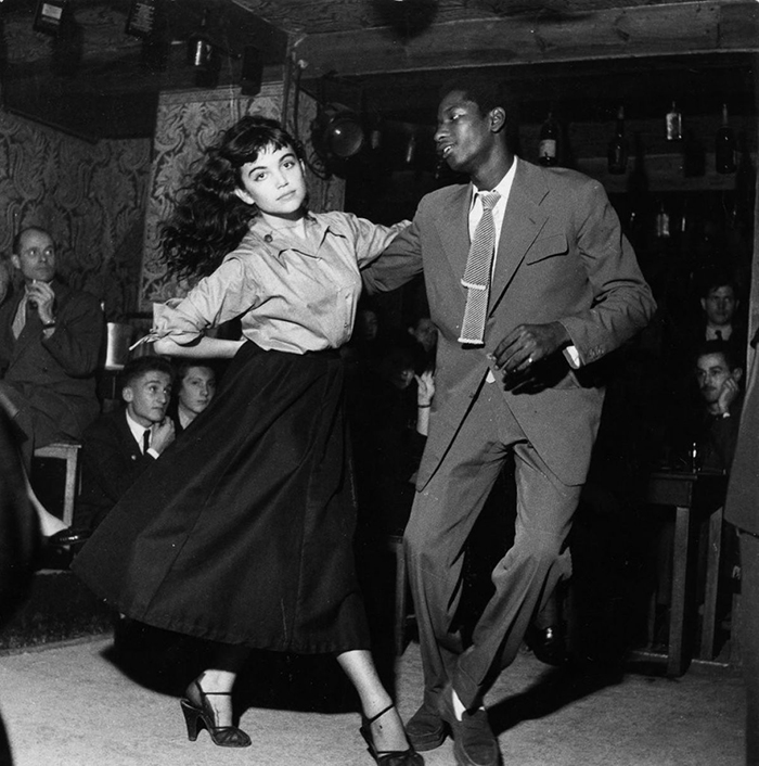 Young Couple Dancing Be-Bop At Vieux Colombier Theatre In Paris (1951)
