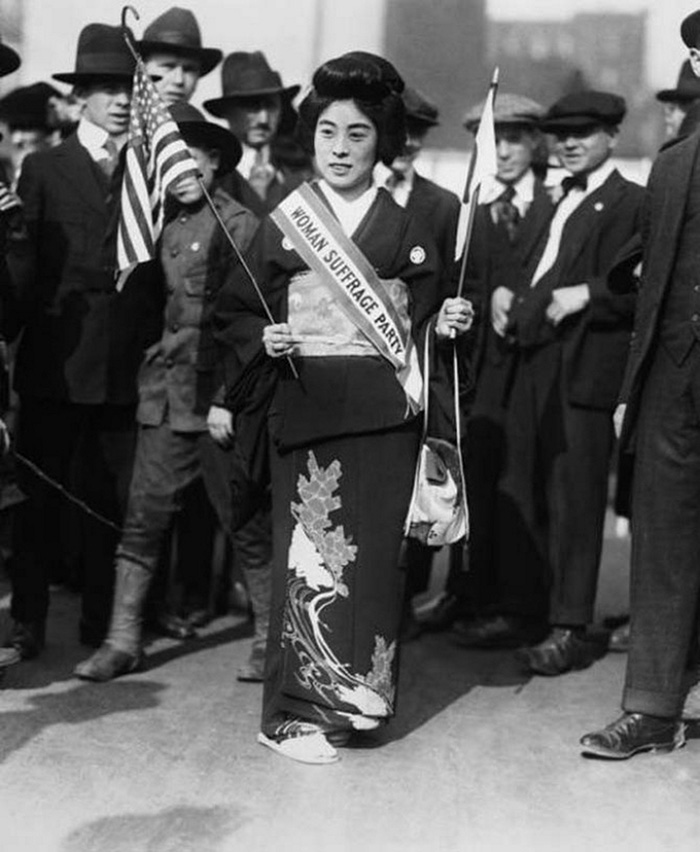 10 Komako Kimura Japanese Suffragist 5 Avenue Demanding Right To Vote 27 October 1917