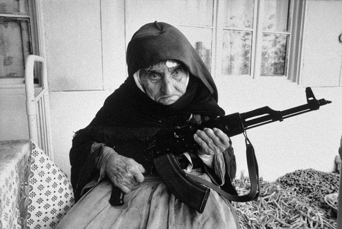 15 A 106-year-old Woman Protects Home With Rifle Armenia 1990