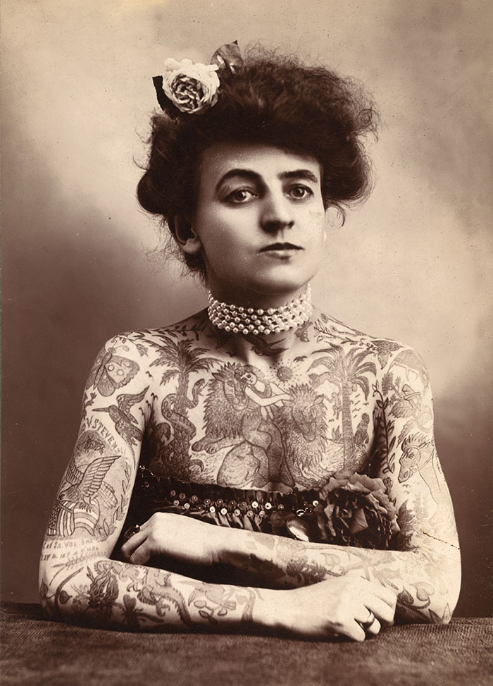 19 Maud Stevens Wagner First Known Female Tattoo Artist US 1907
