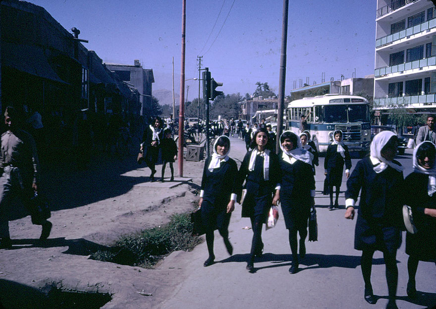 4 Afghan High School Girls