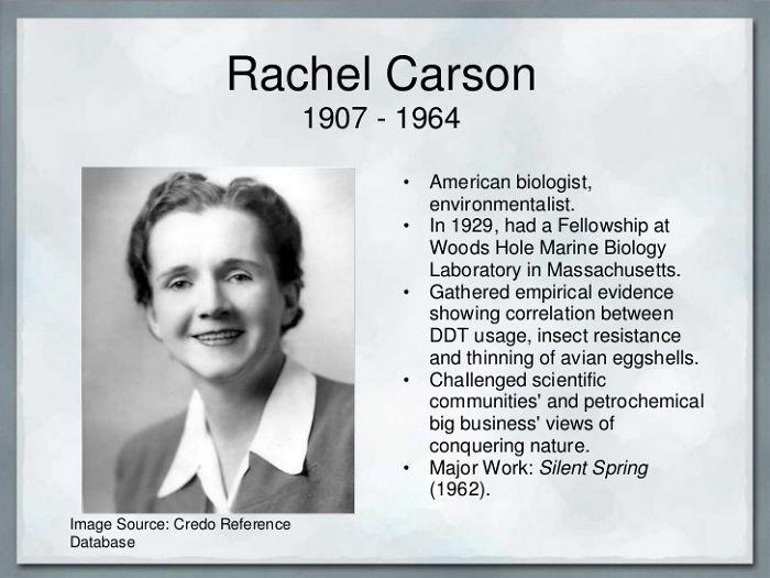 57 Rachl Carson Author silent Spring 1962 Mother Enviromental Movement