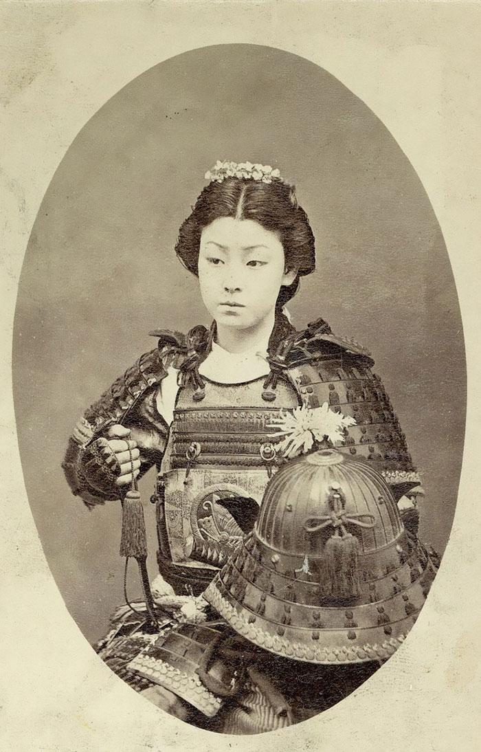 7 One Of The Onna-Bugeisha, Female Samurai Warrior Late 1800