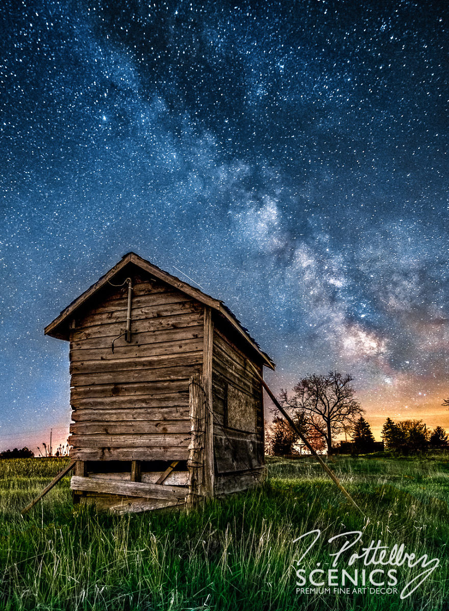 Pump House Under Milky Way